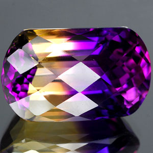 26.99 Ct. Clean Hydrothermal Bi Color Ametrine Unheated