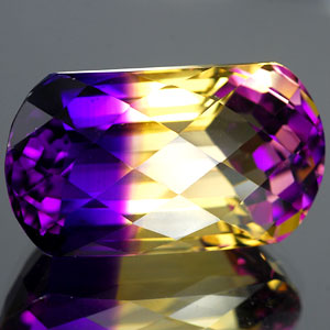 25.84 Ct. Clean Hydrothermal Bi Color Ametrine Unheated
