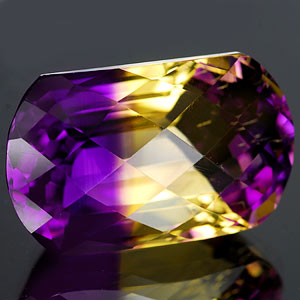 28.24 Ct. Hydrothermal Bi Color Ametrine Unheated Gem