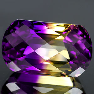 24.98 Ct. Hydrothermal Bi Color Ametrine Unheated Gem