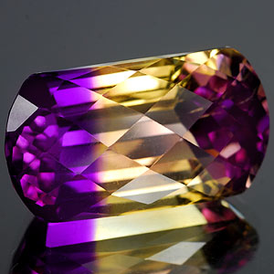 28.34 Ct. Hydrothermal Bi Color Ametrine Unheated Gem