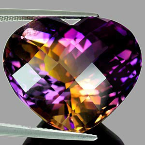 35.75 Ct. Hydrothermal Bi Color Ametrine Unheated Gem