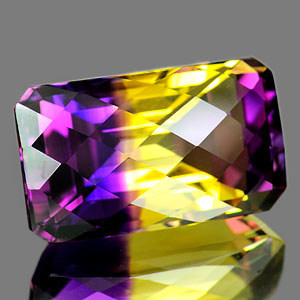 27.21 Ct. Fancy Checkerboard Bi Color Ametrine Unheated