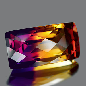 27.22 Ct. Clean Baguette Hydrothermal Bi Color Ametrine