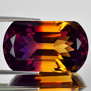 28.03 Ct. Clean Hydrothermal Bi Color Ametrine Bolivia