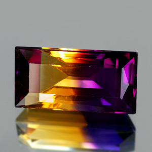 26.77 Ct. Clean Baguette Hydrothermal Bi Color Ametrine