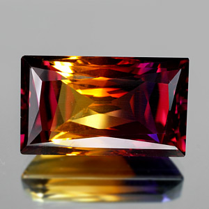 31.66 Ct. Clean Baguette Hydrothermal Bi Color Ametrine