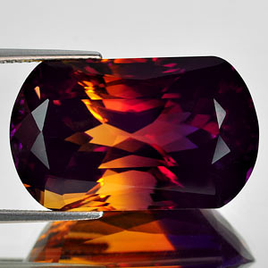 30.30 Ct. Clean Hydrothermal Bi Color Ametrine Bolivia