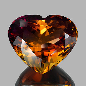 35.62 Ct. Clean Heart Hydrothermal Bi Color Ametrine