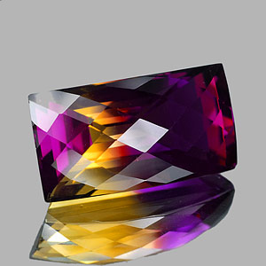 28.94 Ct. Clean Baguette Checkerboard Bi Color Ametrine