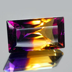 30.34 Ct. Clean Baguette Hydrothermal Bi Color Ametrine