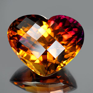 34.68 Ct. Clean Heart Checkerboard Bi Color Ametrine