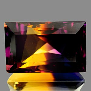 32.04 Ct. Clean Baguette Hydrothermal Bi Color Ametrine Unheated