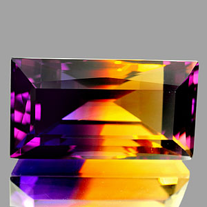 29.46 Ct. Clean Baguette Hydrothermal Bi Color Ametrine