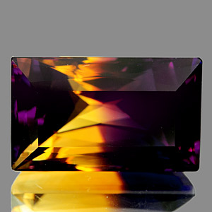 30.69 Ct. Clean Baguette Bi Color Ametrine Unheated
