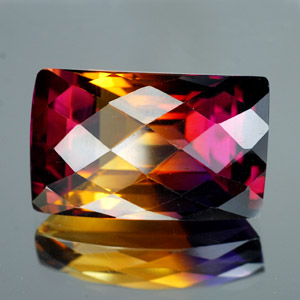 30.11 Ct. Clean Hydrothermal Bi Color Ametrine Baguette Checkerboard