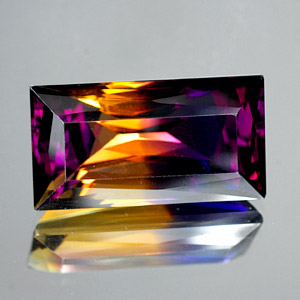 28.20 Ct. Clean Baguette Hydrothermal Bi Color Ametrine