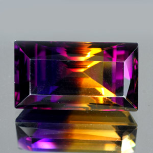 27.21 Ct. Clean Baguette Hydrothermal Bi Color Ametrine