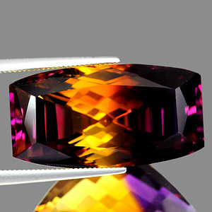 27.68 Ct. Clean Fancy Hydrothermal Bi Color Ametrine