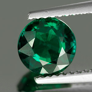 Unheated 1.28 Ct. Clean Round Green Emerald Created