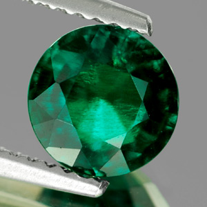 Unheated 1.32 Ct. VVS Green Emerald Created Russia