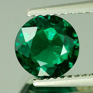 Unheated 1.39 Ct. VVS Green Emerald Created Russia