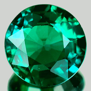 1.30 Ct. VVS Round Green Emerald Created Russia