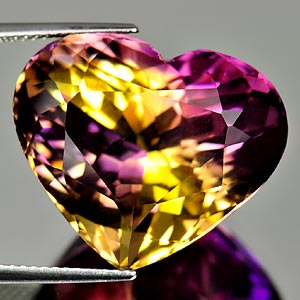 28.73 Ct. Clean Heart Hydrothermal Bi Color Ametrine