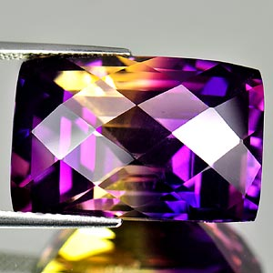 28.02 Ct. Clean Hydrothermal Bi Color Ametrine Bolivia