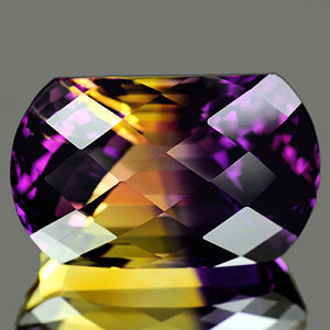 28.25 Ct. Clean Hydrothermal Bi Color Ametrine Bolivia