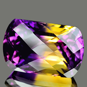 28.15 Ct. Clean Hydrothermal Bi Color Ametrine Bolivia