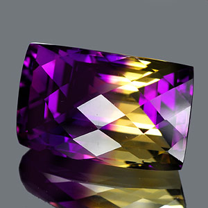 31.20 Ct. Clean Hydrothermal Bi Color Ametrine Unheated