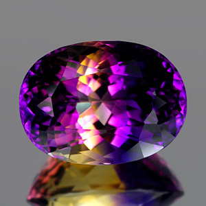 28.59 Ct. Clean Hydrothermal Bi Color Ametrine Unheated