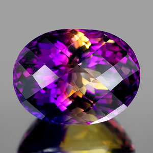 30.74 Ct. Clean Hydrothermal Bi Color Ametrine Unheated