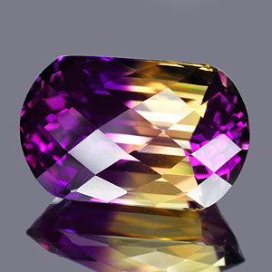 26.73 Ct. Clean Checkerboard Bi Color Ametrine Unheated