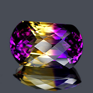 29.87 Ct. Clean Cushion Checkerboard Bi Color Ametrine