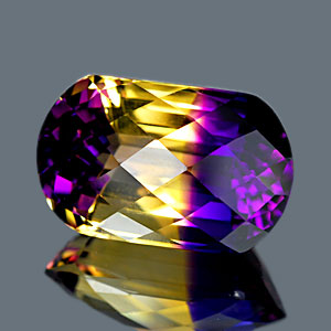 27.29 Ct. Clean Hydrothermal Bi Color Ametrine Unheated