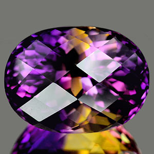 28.59 Ct. Clean Oval Checkerboard Bi Color Ametrine