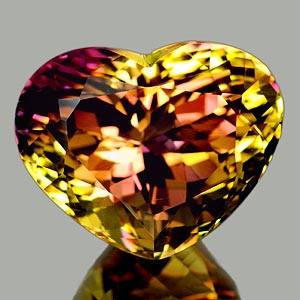 27.65 Ct. Clean Heart Hydrothermal Bi Color Ametrine