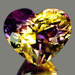 23.81 Ct. Clean Heart Hydrothermal Bi Color Ametrine
