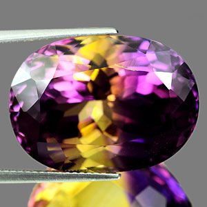 35.01 Ct. Clean Hydrothermal Bi Color Ametrine Unheated