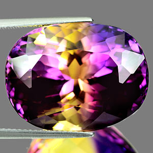 38.58 Ct. Clean Hydrothermal Bi Color Ametrine Unheated