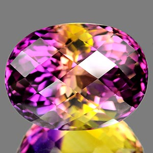 40.97 Ct. Clean Hydrothermal Bi Color Ametrine Unheated