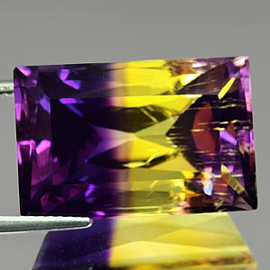 31.24 Ct. Clean Baguette Hydrothermal Bi Color Ametrine