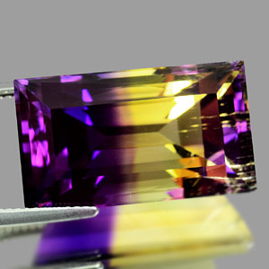 27.04 Ct. Clean Hydrothermal Bi Color Ametrine Unheated