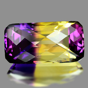 28.22 Ct. Clean Hydrothermal Bi Color Ametrine Octagon Checkerboard Unheated