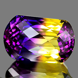 29.91 Ct. Clean Fancy Hydrothermal Bi Color Ametrine