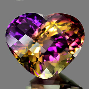 35.27 Ct. Clean Heart Hydrothermal Bi Color Ametrine