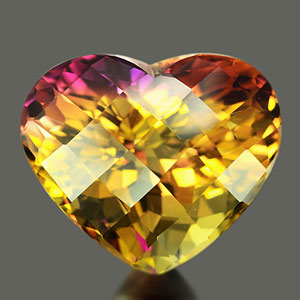 35.57 Ct. Clean Heart Hydrothermal Bi Color Ametrine