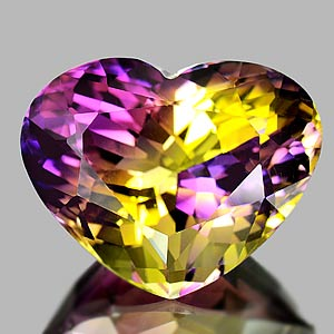 33.61 Ct. Clean Heart Hydrothermal Bi Color Ametrine
